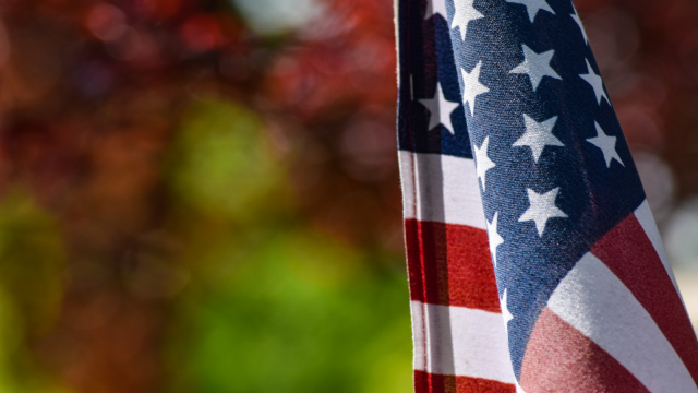 American Flag. Florida National University is the Right Choice for Veterans